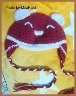 Crochet bear baby hat