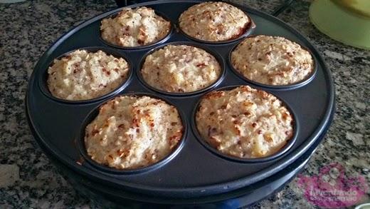 cupcake de maçã sem gluten e sem lactose na cupcake maker