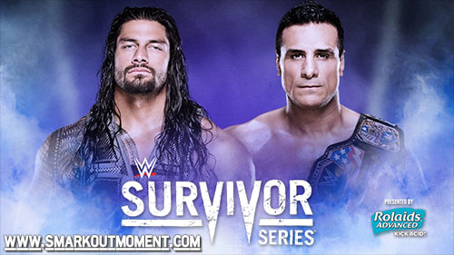 WWE Survivor Series 2015 Roman Reigns vs Alberto Del Rio match