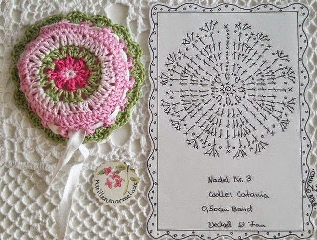 Granny circular tejido al crochet - con esquema