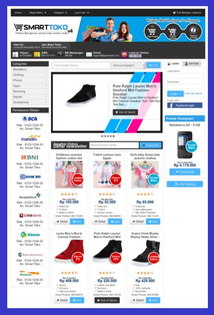 Template blog toko online sederhana