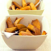 Cinnamon Baked Pumpkin Fries and 20 Healthy Pumpkin Recipes - MyNaturalFamily.com #pumpkin #recipes