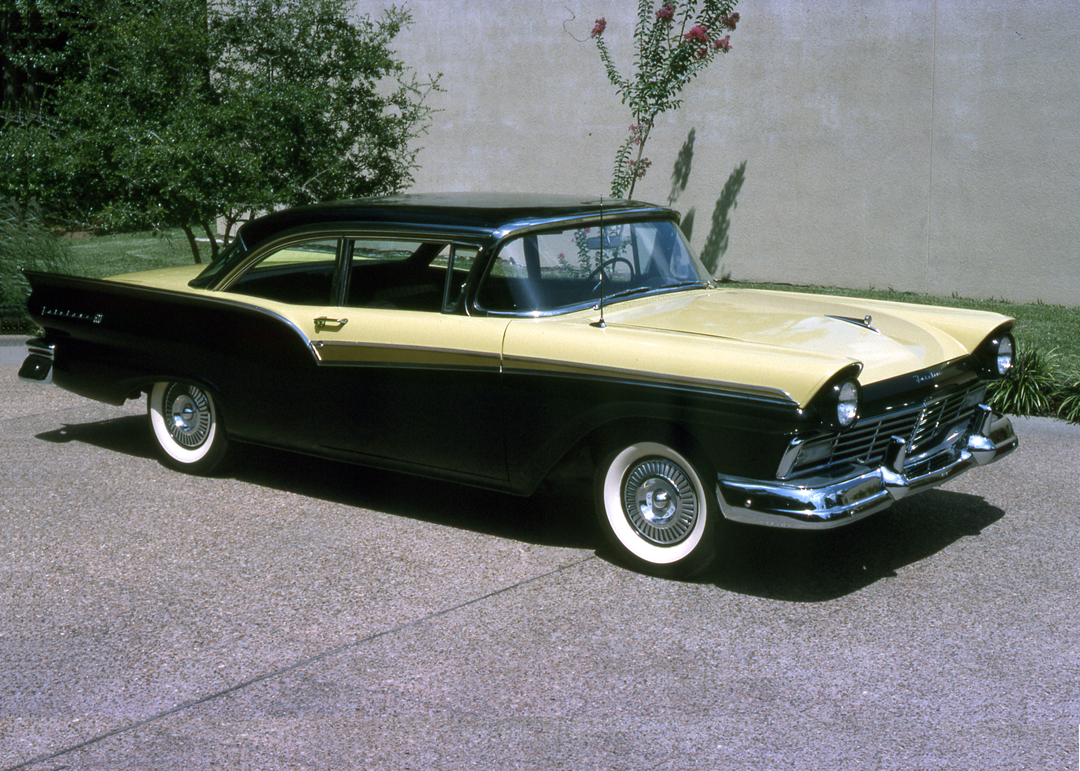 1957 fairlane 500 club sedan with the f code y block