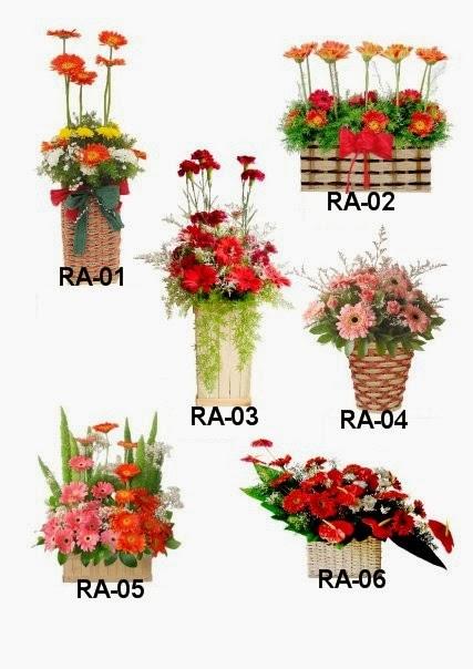 Rangkaian bunga Rp.350.000.-