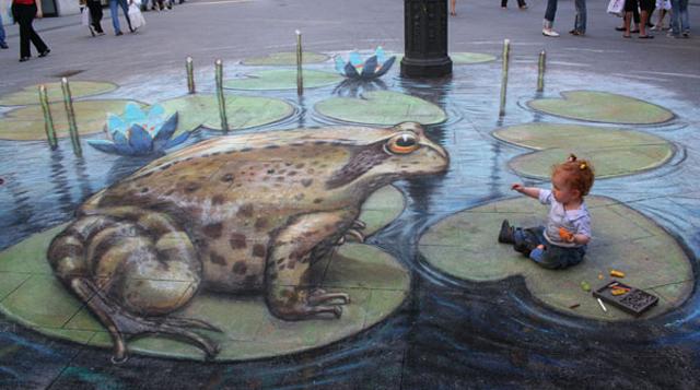 Arte urbano de Julian Beever te animará con sus increíbles ilusiones 3D