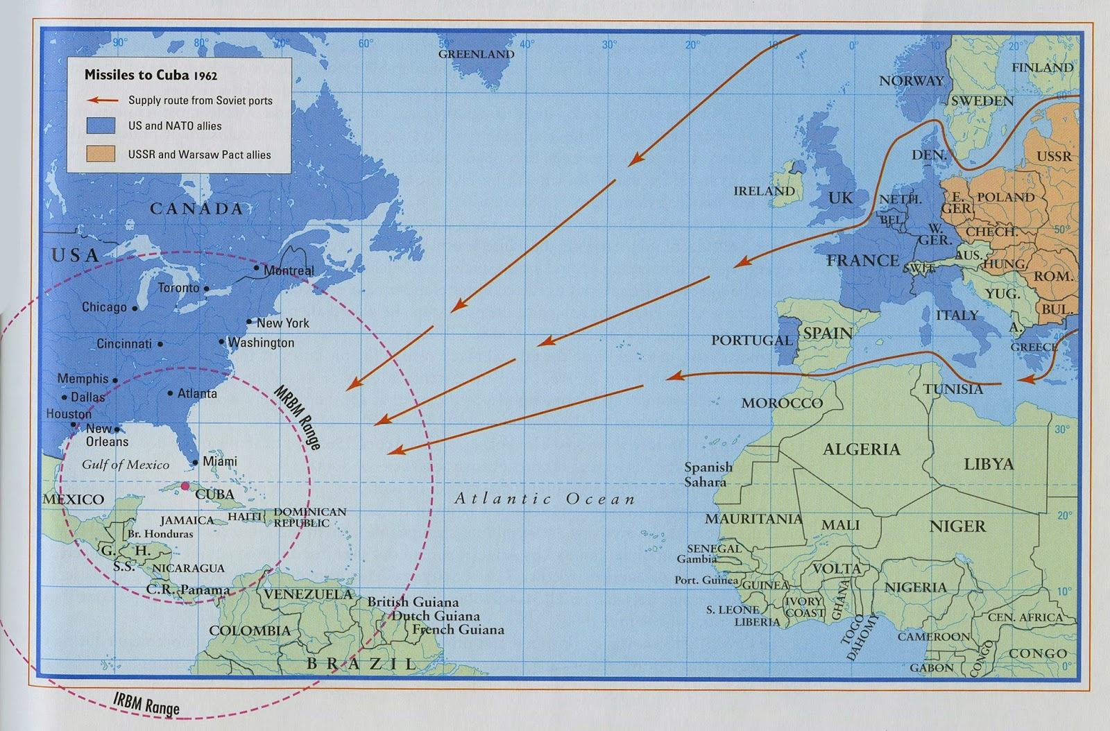 thirteen days in october mapping the cuban missile crisis