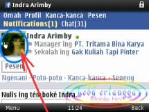 Tag Teman di Status FB melalui HP 1