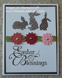 Easter card made with Stampin'UP!'s set: Ears to You