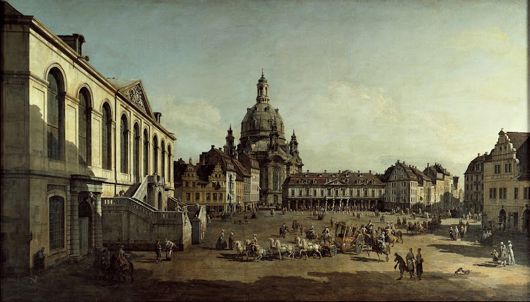 Bernardo Bellotto - View of the Neumarkt in Dresden from the Jüdenhofe 1749