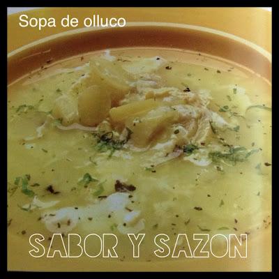 COMO PREPARO UNA SOPA DE OLLUCO - Receta     http://comopreparoun.blogspot.com