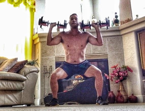 Body Beast Cardio - Squat Overhead Press Hold