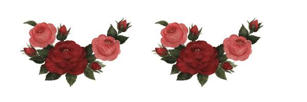 cenefas de rosas