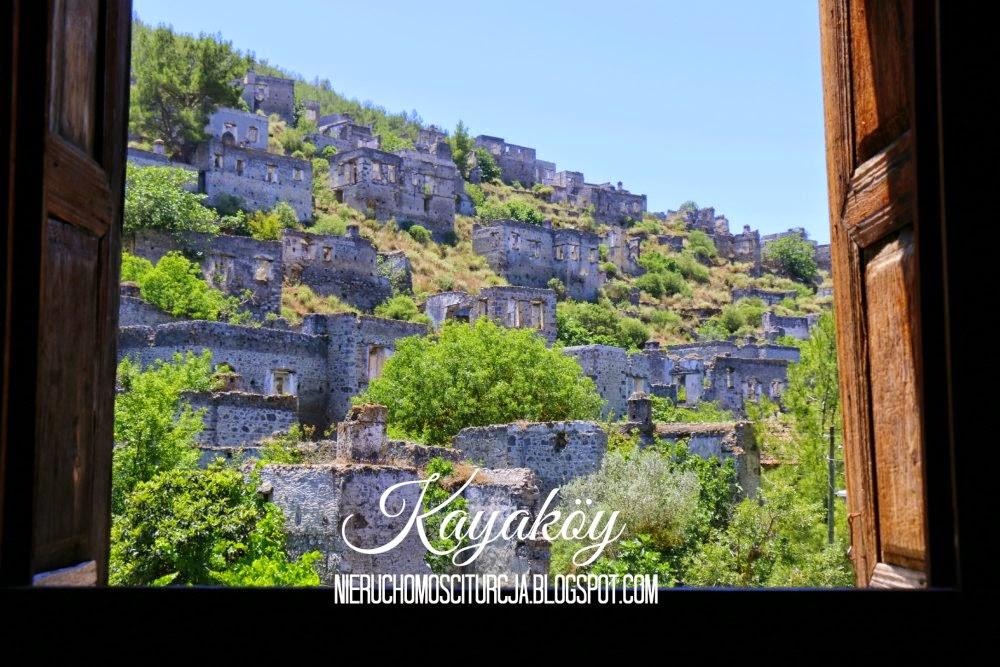 Kayaköy - historyczna wieś koło Fethiye, tzw. otwarte muzeum na powietrzu