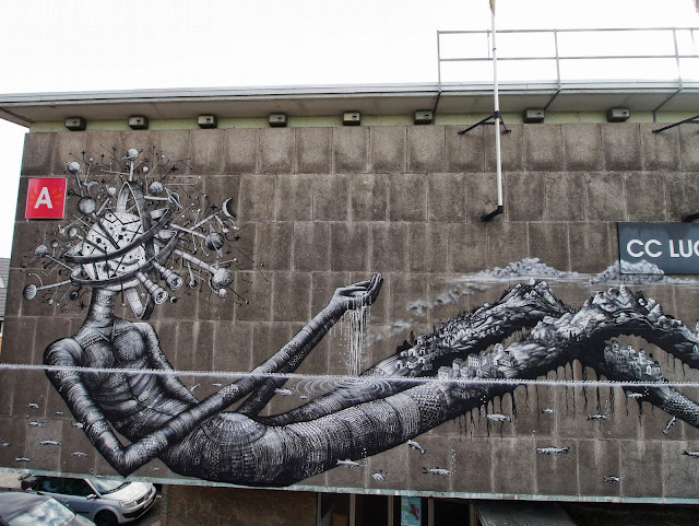 Street Art By Phlegm For Day One Festival In Antwerp, Belgium. 5