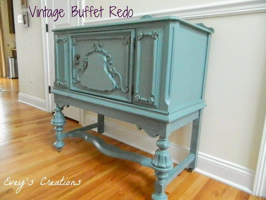"""Vintage Blue Buffet Redo"" Heirloom, Custom, Color, Chalk, Paint"