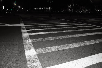 Pedestrian lane black and white free picture for commercial use