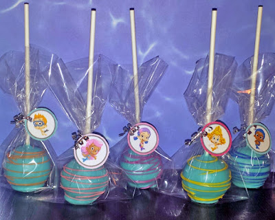 Bubble Guppies cake pops, Bubble Guppies