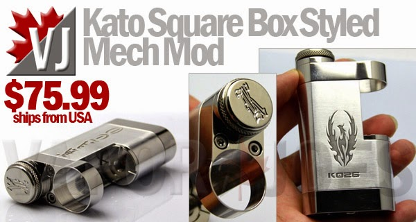 Kato Square Box Styled Mechanical Mod - 22mm Atomizer Housing