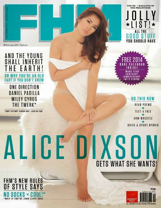Alice Dixson goes nude in FHM December 2013 cover