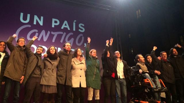 Triunfo de Podemos con 5.189.333 de votos y 69 escaños.