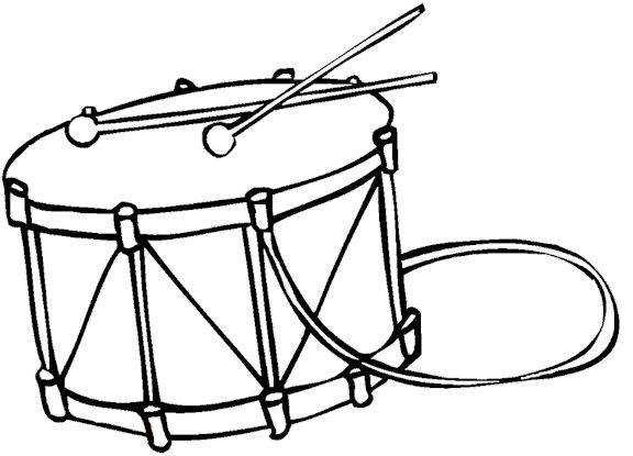 free music instrument coloring pages - photo#21