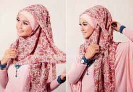Model Hijab Untuk Wajah Lonjong