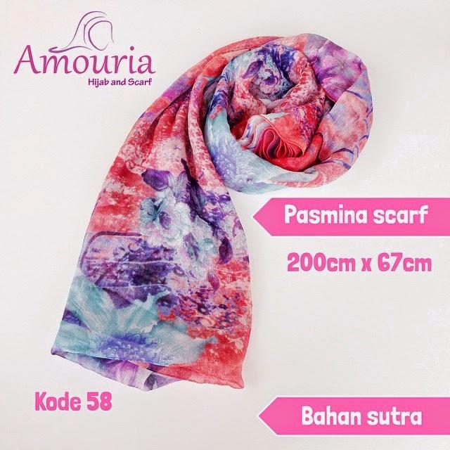 Hijab Amouria Pashmina Scarf Kode 058