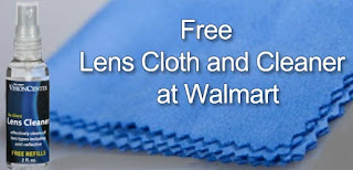 Free lens cloth and cleaner at walmart