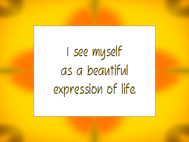 SELF-ESTEEM affirmation