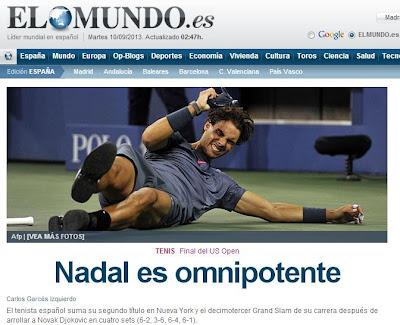 La victoria de Rafa Nadal en el US Open en El Mundo