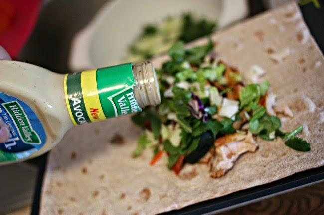 Recipe: Chicken Avocado Ranch Wraps