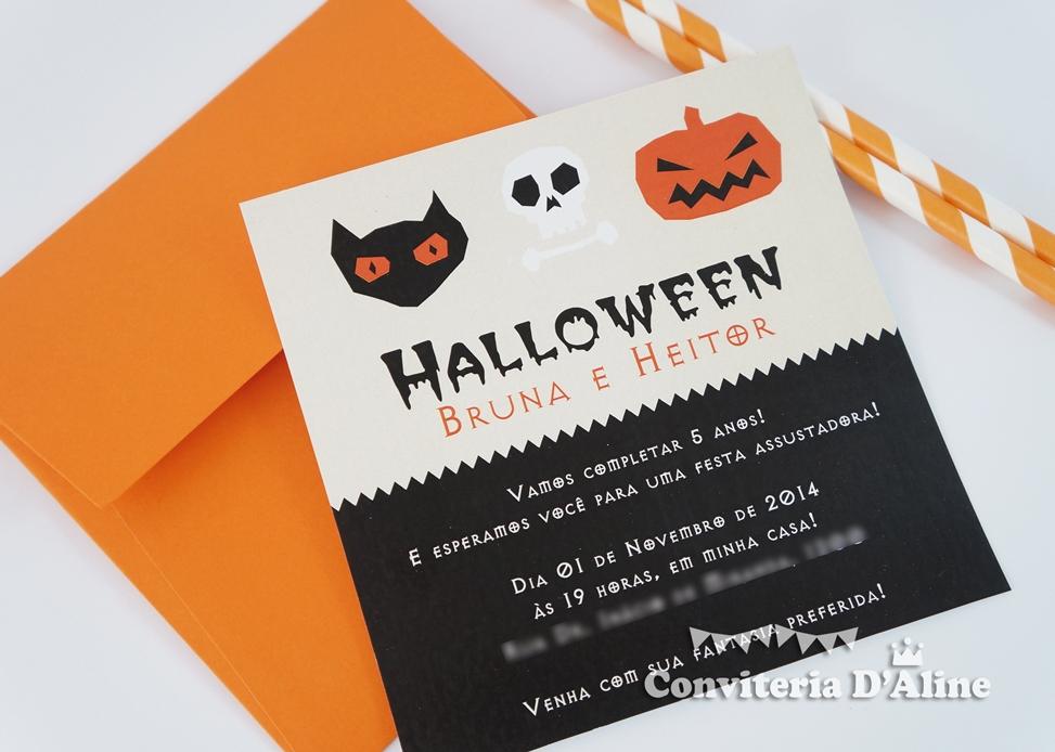 convite halloween