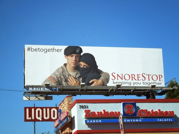 SnoreStop Keeping you together billboard