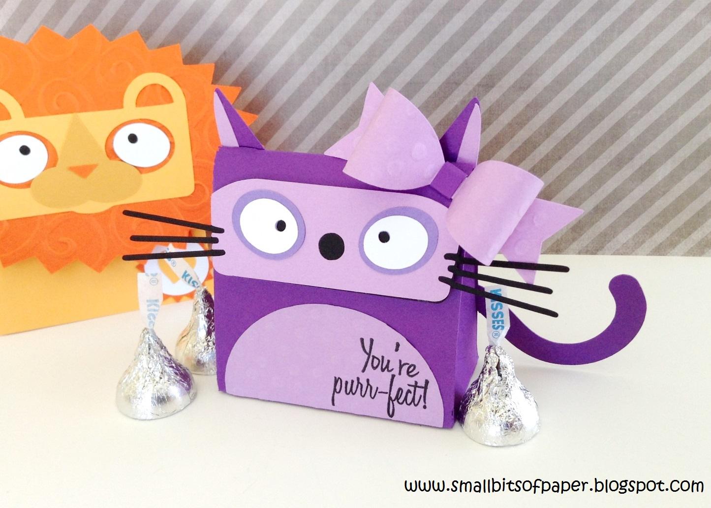 small bits of paper cat treat box - Cat Valentine Box