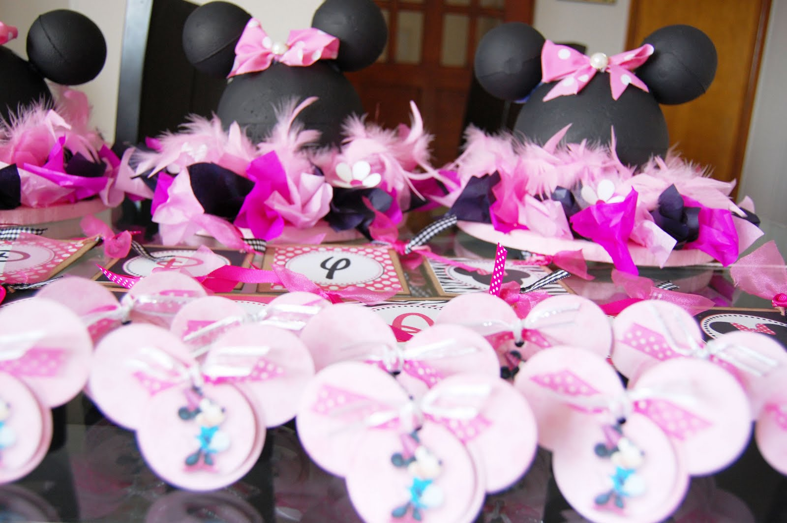 decoracion minnie fucsia