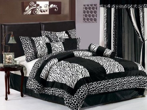 zebra print bedroom decor home decoration