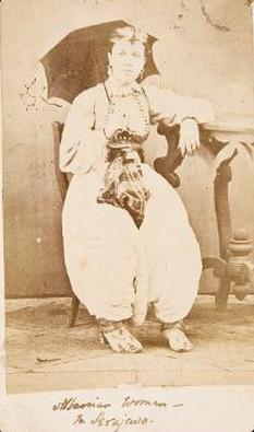 Albanian woman in Sarajevo