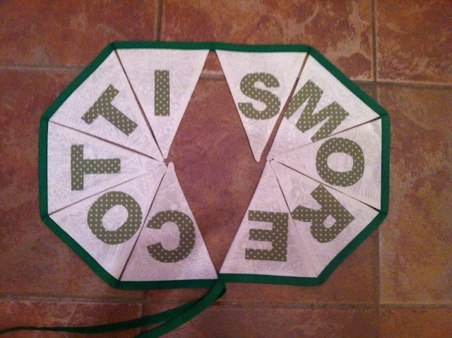 Green and White Bunting
