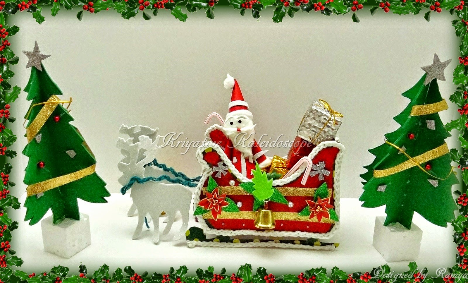 Santa sleigh ornament - When I Saw The Theme Of Many Challenges To Be Christmas I Decided To Try Out Something I Like The Song Jingle Bells In Which Santa Claus Comes Riding On The