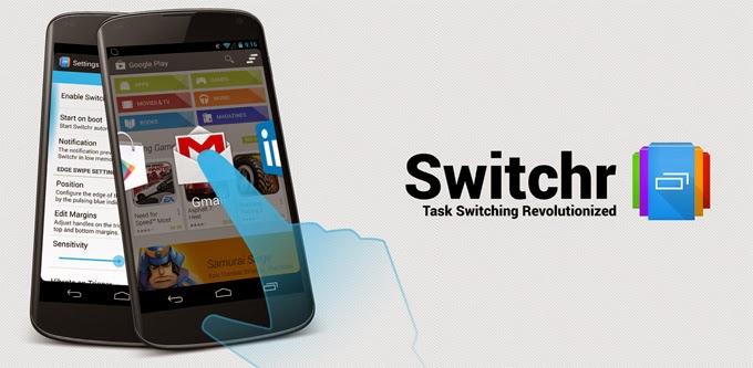 Switchr gratis para Android, cambia fácilmente de una a otra aplicación