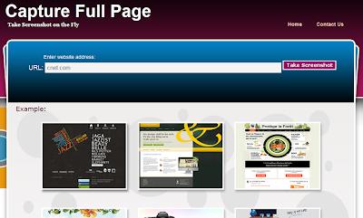 Capturefullpage, a website to capture full webpage snapshot