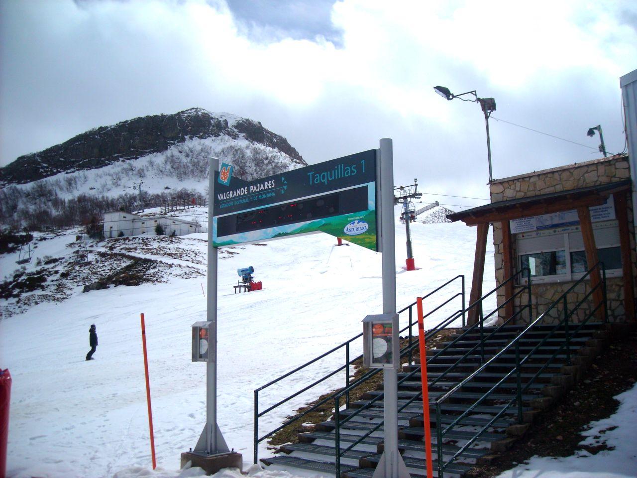 pajares nieve esquí montañas asturias invierno