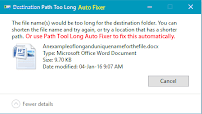 Path Tool Long Auto Fix Tool