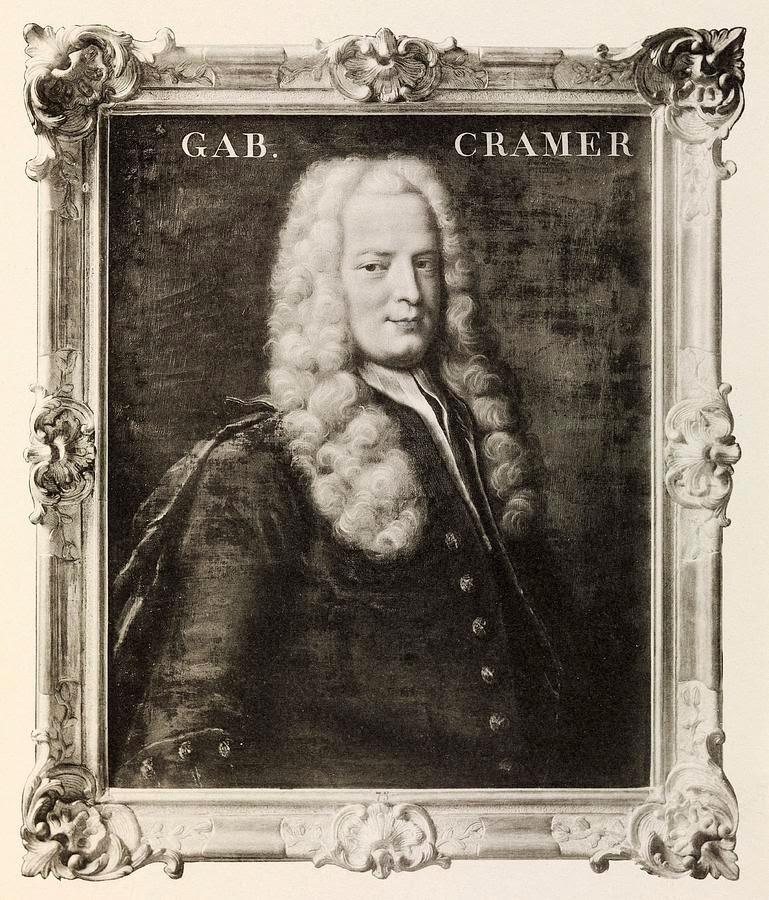 Grandes Matemáticos: Gabriel Cramer