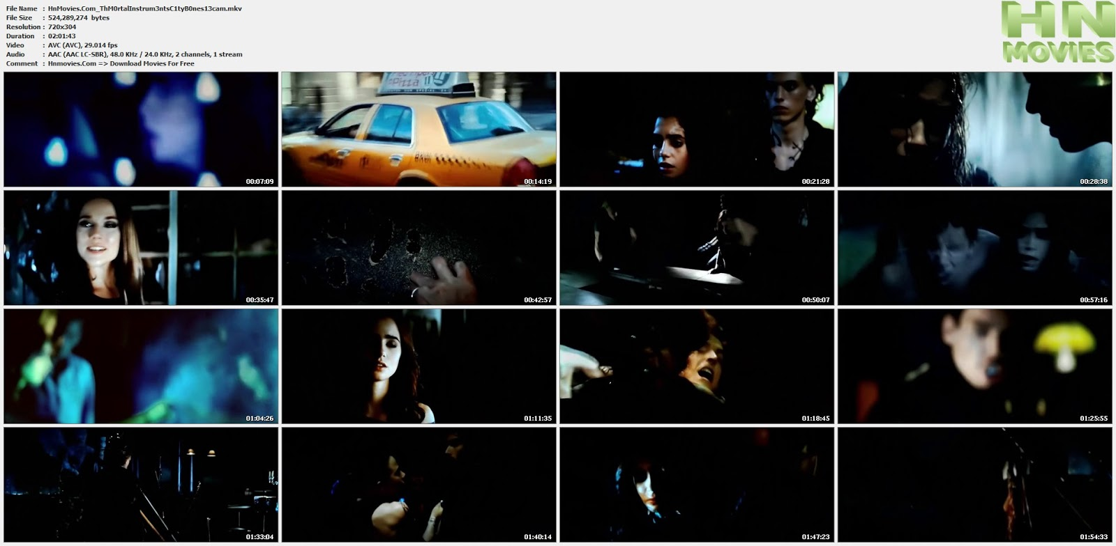 movie screenshot of The Mortal Instruments: City of Bones fdmovie.com