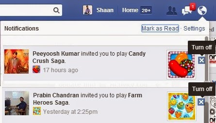 Block Candy Crush Saga and other Facebook Games Requests and Notifications