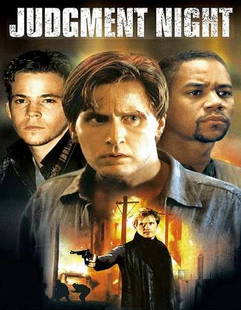 Poster Of Judgment Night 1993 Dual Audio 130MB  HEVC Mobile Free Download Watch Online Worldfree4u