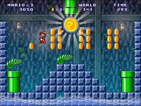 صور من داخل لعبة سوبر ماريو  Super Mario