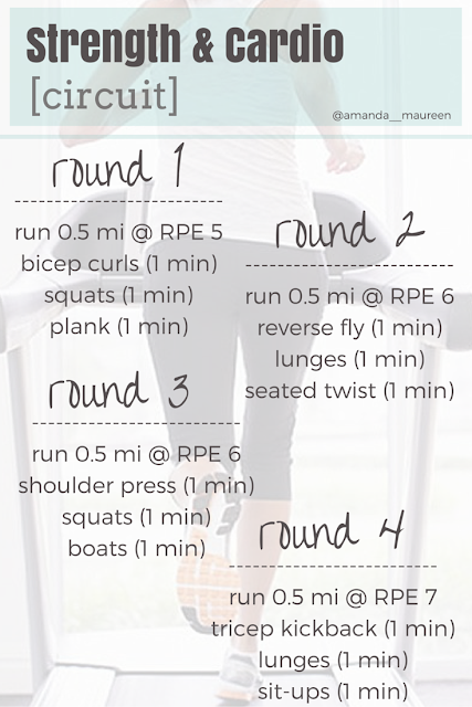 Strength & Cardio Circuit, Workout Wednesday, Run, Interval Training, Strength Training