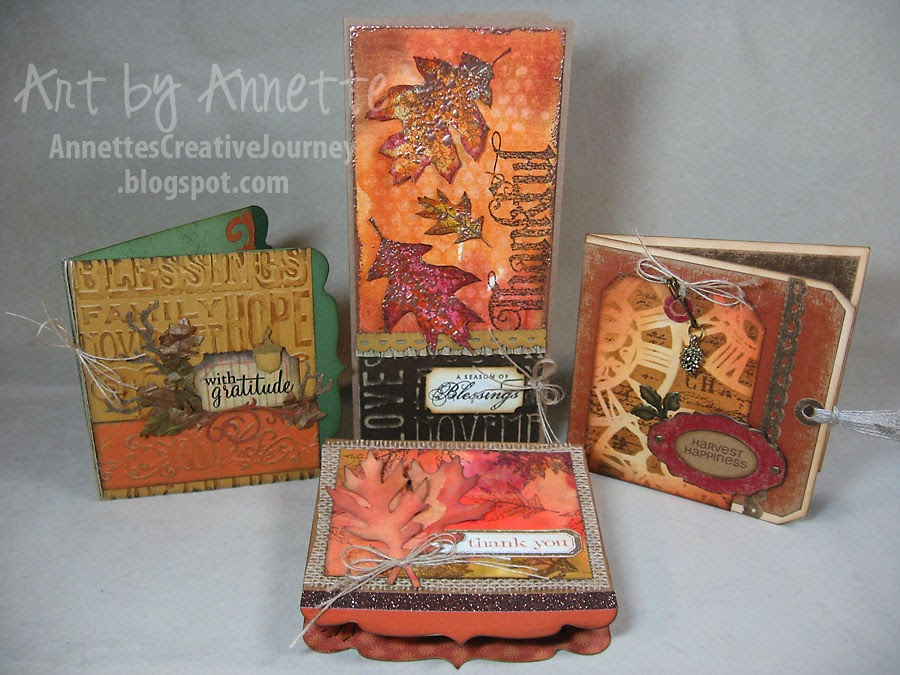 fall card collection tim holtz style